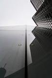 法兰克福商业银行大厦铆牢底部外部 图库摄影
