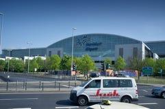 法兰克福国际机场终端2 -现代大厦 库存照片
