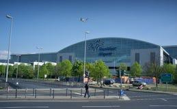法兰克福国际机场终端2 -现代大厦 免版税库存照片