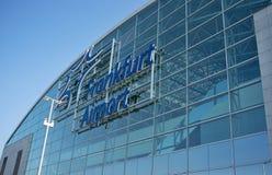 法兰克福国际机场终端2 -现代大厦 免版税图库摄影