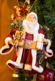 法兰克福圣诞节市场圣诞老人装饰 免版税图库摄影