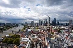 法兰克福在德国是商务、文化、教育、旅游业和运输插孔的中心 免版税图库摄影