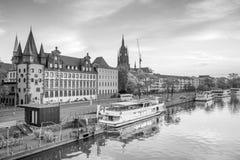 法兰克福市地平线看法在德国 免版税图库摄影