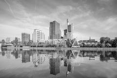 法兰克福市地平线看法  免版税库存图片