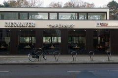 法兰克福德国简单的咖啡馆餐馆沉寂地区  图库摄影