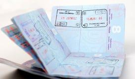 法兰克福护照我们 图库摄影
