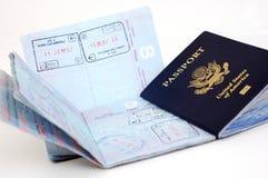 法兰克福护照我们 库存照片