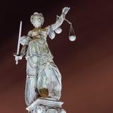 法兰克福正义夫人 免版税库存照片