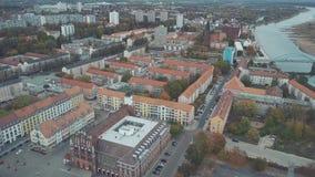 法兰克福鸟瞰图奥得河的,德国 股票录像