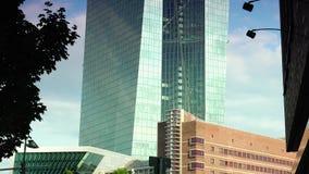 法兰克福,德国:超HD 4K,实时,市视图欧洲央行(ECB) 股票视频