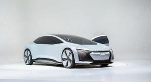 法兰克福,德国- 2017年9月17日:在IAA法兰克福汽车展示会的奥迪Aicon自治概念汽车 免版税图库摄影