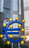 法兰克福,德国- 2017年10月6日:欧洲标志 Europea 库存照片