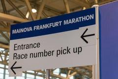 法兰克福,德国- 2017年10月28日:法兰克福马拉松长跑n 免版税库存图片