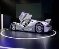 法兰克福,德国- 2017年9月17日:Aspark猫头鹰,在IAA法兰克福汽车展示会的概念电supercar 库存照片