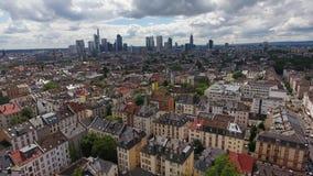 法兰克福,德国-鸟瞰图都市风景  股票录像