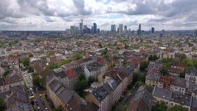 法兰克福,德国-鸟瞰图都市风景  股票视频
