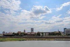 法兰克福& x28地平线;奥得河 库存图片