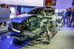 法兰克福- 2015年9月:捷豹汽车F步幅CX-17体育RS被提出在 图库摄影