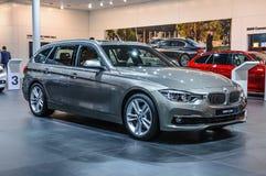 法兰克福- 2015年9月:BMW 320d被提出在IAA国际M 免版税库存图片