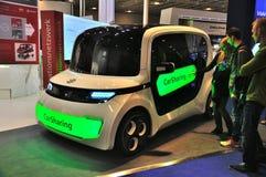 法兰克福- 9月14日:当全球首演被提出的立方体汽车在Th 免版税库存图片