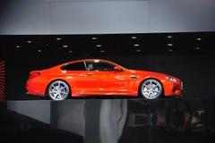 法兰克福- 9月14日:当全球首演被提出的BMW M6小轿车在 图库摄影