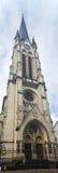 法兰克福St.安东尼氏族Kirche全景 免版税库存图片