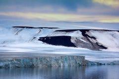 法兰士约瑟夫地群岛-冰川 库存照片
