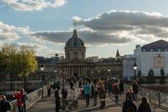 法兰西学会在巴黎在10月下旬 免版税图库摄影