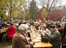 巴法力亚啤酒庭院 免版税库存照片