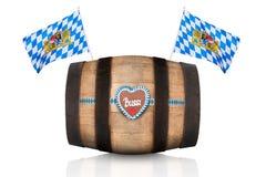 巴法力亚啤酒桶 库存图片