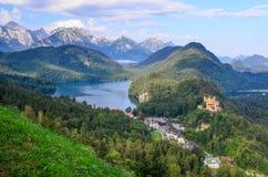巴法力亚阿尔卑斯的美丽如画的看法 库存照片