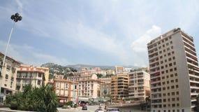 法国、摩纳哥、Bulding和天空 免版税库存照片