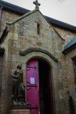 法国。诺曼底。圣米歇尔山。圣女贞德 库存照片
