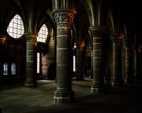 法国。诺曼底。圣米歇尔山。 免版税库存图片