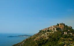 法国。 棚Azur。 法国海滨。 Eze。 免版税库存图片
