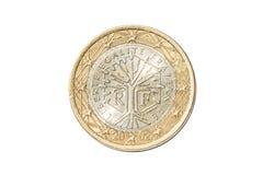 法国一枚欧洲硬币 库存图片