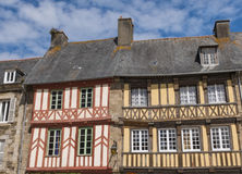 法国不列塔尼的地区的典型的建筑,中楼faca 库存照片