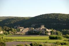 法国中世纪村庄 免版税库存照片