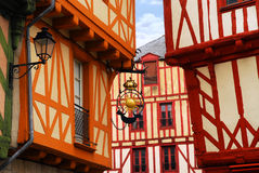 法国中世纪瓦讷 库存照片