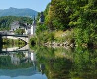 巴斯蒂达Lestelle-Betharram在法国比利牛斯 免版税图库摄影