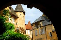 法国中世纪sarlat 免版税库存图片