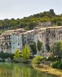 法国中世纪sauve村庄 免版税库存照片