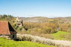 法国乡下平安的村庄  库存照片