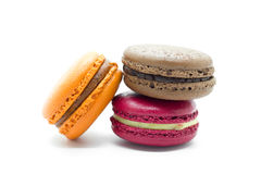 法国五颜六色的macarons 库存图片
