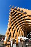 法国亭子-商展米兰2015年 免版税图库摄影