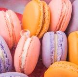 法国人图III的Macarons关闭 库存图片