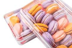 法国人图VI的Macarons关闭 免版税库存图片