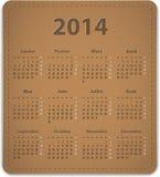 2014法国人日历 免版税库存照片