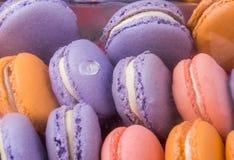 法国人看法的Macarons关闭我 免版税库存图片