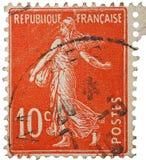 法国人邮票葡萄酒 库存图片